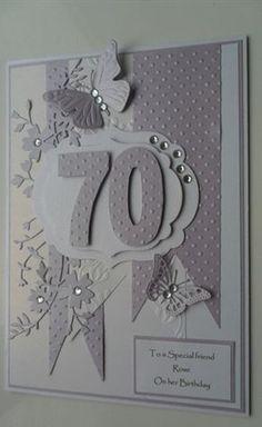 geburtstagskarte basteln Birthday card ideas: birthday card from: Skill is ideas for my handicr 70th Birthday Card, Handmade Birthday Cards, Happy Birthday Cards, Greeting Cards Handmade, Female Birthday Cards, Birthday Wishes, 50th Birthday Cards For Women, Birthday Ideas, Butterfly Cards Handmade