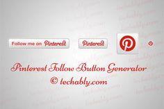 Pinterest Follow Button Generator