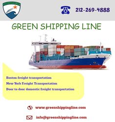The Green shipping line is a US based freight transportation company, providing low cost freight shipping services around the world. Visit : goo.gl/zYIhWY