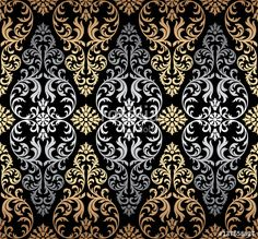 Luxury old fashioned damask ornament, royal victorian seamless texture for wallpapers, textile, wrapping. Tropical Art, Seamless Textures, Arabesque, Pattern Wallpaper, Fabric Patterns, Shops, Floral, Decoupage, Textiles