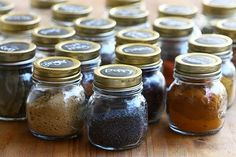 Organize your spices with mason jars - more organizaton tips @BrightNest Blog