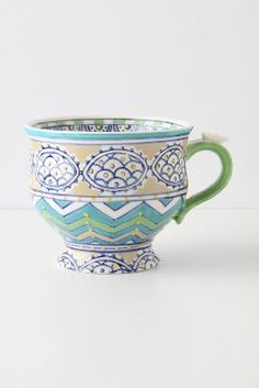 "anthropologie mug... I am in LOVE with anthro mugs... I especially like their monogrammed ""S"" mug. I use it every day!"