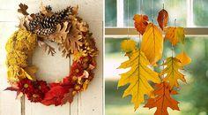 Herbst Kranz Eingang-Tür