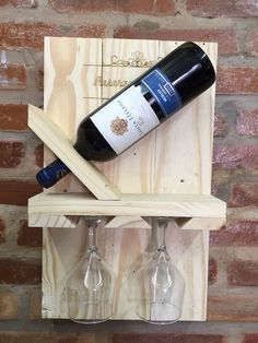 92 Amazing Sample Models Woodworking Plans For Cups And Glasses Shelving 71 Wine Glass Holder, Wine Bottle Holders, Woodworking Plans, Woodworking Projects, Woodworking Equipment, Woodworking Machinery, Wine Stand, Rustic Wine Racks, Pallet Wine
