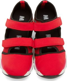 Marni Red Velcro Running Sneakers