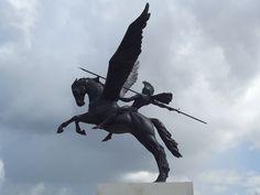 National Memorial Arboretum - Parachute Regiment - Pegasus and the rider Bellerophon