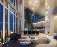 From a luxury apartment at One Hyde Park to a penthouse at the top of a skyscraper, these are among the most expensive properties on sale to the public. Penthouse London, Luxury Penthouse, London Apartment, Dream Apartment, Penthouse Apartment, Penthouse Suite, Luxury Condo, Luxury Homes Dream Houses, Cool Apartments