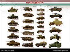 tanks posters - Regio Esercito 1939-43