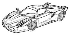 Ferrari XX Evolution Coloring Page