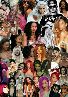 Rihanna 39 s collage enjoy it d riri rihanna wallpaper - Drake collage wallpaper ...