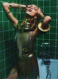 Anja Rubik Is Queen of Hygiene by Mario Sorrenti for Vogue Paris March 2013 - 0- News for Women, Fashion & Style, Women's Rights - Women's Fashion & Lifestyle News From Anne of Carversville