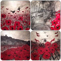 The War Poppy Collection Remembrance Day Art, Ww1 Art, Painting Videos, Military Art, Art Plastique, Teaching Art, Art Sketchbook, Art Lessons, Art Boards
