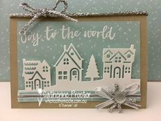 """""""Joy to the World"""" Christmas Card – What Cathy Made - christmas dekoration Christmas Cards 2017, Create Christmas Cards, Christmas Hearts, Stampin Up Christmas, Xmas Cards, Handmade Christmas, Holiday Cards, Stampin Up Weihnachten, Stamping Up Cards"""