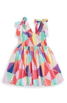 Halabaloo+'Kaleidoscope'+Smock+Dress+(Baby+Girls)+available+at+#Nordstrom