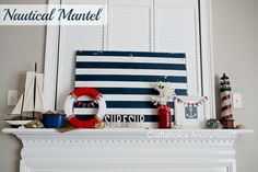 nautical themed  - love the blue and white stripe - maybe towels in the bathroom w/ a sailboat shower curtain