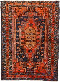 Navy Blue 4' 8 x 6' 3 Hamedan Rug | Persian Rugs | eSaleRugs