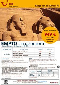 Oferta EGIPTO - Flor de Loto. Mayo y Junio. Precio Final desde 949€ incluye Visado ultimo minuto - http://zocotours.com/oferta-egipto-flor-de-loto-mayo-y-junio-precio-final-desde-949e-incluye-visado-ultimo-minuto/