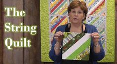 Quilting with scraps - Make the String Quilt!, via YouTube.  See links under Show More.
