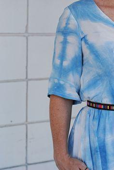sewing: shibori dyed darling ranges dress