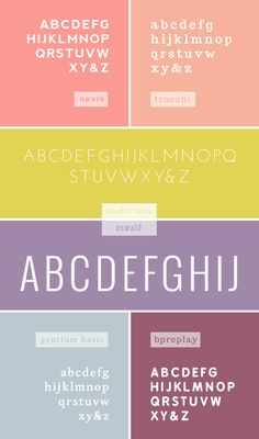 for bloggers : favorite web fonts    BreannaRose has the most incredible sense of color I've ever come across.