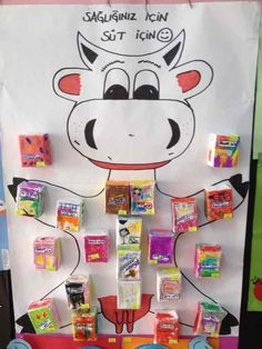 cow with milk project – Nutztiere Senses Activities, Farm Activities, Kindergarten Activities, Farm Animal Crafts, Farm Crafts, Farm Animals, Kids Crafts, Cow Craft, Milk The Cow