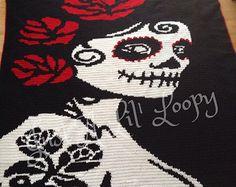 Crochet Batman Afghan