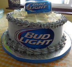 Birthday Cake For Husband, New Birthday Cake, Birthday Cakes For Men, 21st Birthday, Brother Birthday, Bud Light Cake, Light Cakes, Alcohol Cake, Fathers Day Cake