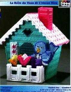 Birdhouse Tissue Box Cover 1/4