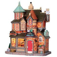 Lemax Caddington Village A Cup & Book Cafe Christmas Village Lighted Building