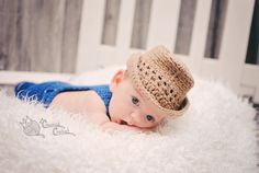 This baby straw-look cowboy hat is perfect for a cute little farmer or fisherman outfit! Great for your new country-life lover. Hand made from 100% acrylic yarn which makes it machine washer and dryer safe.  Sizes: Newborn, 0-3 months, 3-6 months, 6-12 months, 12-24 months, 2-5 years (Message me for specific measurements) Machine washer and dryer safe  Made in a smoke free home  If you would like this hat in different colors just let me know by requesting a custom order!  Please note that…