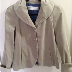 Charles Nolan neutral blazer - sz 6 Size not listed but fits like a 6- Charles Nolan blazer in amazing condition- huge snap buttons- with pockets - fully lined Charles Nolan Jackets & Coats Blazers