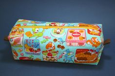 Boxy Makeup Bag - Kawaii Animal and Sweets Print Zipper - Pencil Pouch - Cosmo Textiles for $12 +s&h by JustPeachyHandmade on Etsy