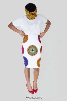 Model : Sesi-Anna Age : 26 Elizabeth Pop Pencil Skirt By Kwame Adjaye