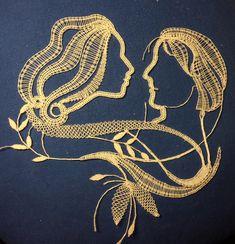 Anne Hanson, Bobbin Lace Patterns, Irish Crochet, String Art, Wool Yarn, Needlepoint, Map Pins, Costume, Mandala