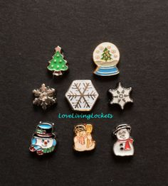 Winter Floating Charms for Origami Owl Living by LoveLivingLockets, $3.99