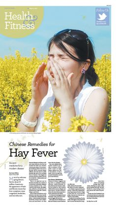 Chinese Remedies for Hay Fever|Epoch Times #Health #newspaper #editorialdesign