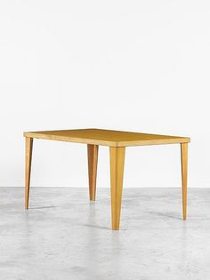 Charles & Ray Eames; #DTW-1 Plywood Table for Evans, c1940.