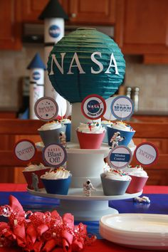 Nasa Astronaut Training Party - Birthday - Nasa Astronaut Training Inspired DIY PRINTABLE Cupcakes