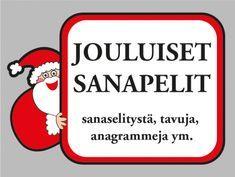 Jouluiset sanapelit #joulu #peli #visa #sanasokkelo #anagrammi #tulostettava #virike #ryhmä #äidinkieli #äikkä #juhla #ryhmätoiminta #aivojumppa