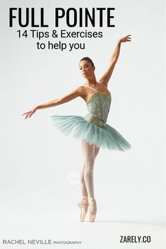 "14 Tips & exercises to help you on to your ""full pointe"" Here are fourteen ballet pointe tips to improve your pointe work and help you get a better position en pointe. Ballet Feet, Ballet Dancers, Ballet Class, Ballet Body, Ballet School, Dance Class, Ballet Stretches, Ballet Moves, Dance Technique"