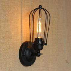 Retro Style Loft Industrial Vintage Wall Light For Home Edison Wall Lamp Sconce Arandela Apliques Pared Wandlamp Vintage Industrial Lighting, Industrial Pendant Lights, Industrial Style, Wall Sconce Lighting, Candle Sconces, Wall Sconces, Wall Lamps, Vintage Wall Lights, Vintage Walls