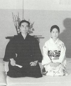 Hiroshi Tada Sensei and wife Kumi, from the blog post: Aikido Shihan Hiroshi Tada: The Budo Body, Part 7 - Don't eat watermelon after fasting!