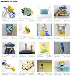 Mellow blue and yellow by Joanne on Etsy Esty, Yellow, Blue, Gifts, Presents, Favors, Gift