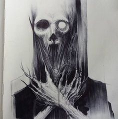Dark drawings, creepy drawings, ballpoint pen drawing, creepy art, go Creepy Drawings, Dark Drawings, Creepy Art, Scary, Arte Horror, Horror Art, Sketchbook Drawings, Sketches, Ballpoint Pen Art