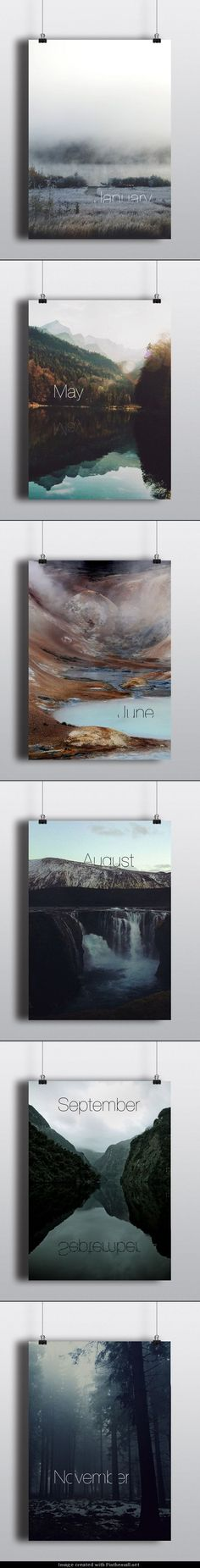 Interesting design to display the months of the year. Different regions could use different landscapes