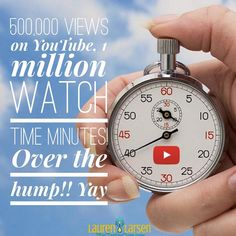 """""""A YouTube milestone for me!! It's all about the watch time minutes. 1,092,000 million. Over 500,000…"""""""