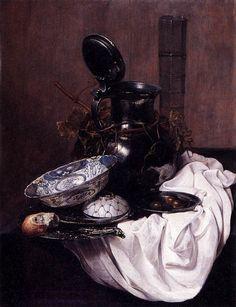 Jan Jansz Treck (1605/6-1652) Still Life with Pewter Jug, 1645 Budapest, Museum of Fine Arts
