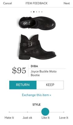 DIBA Joyce Buckle Moto Bootie from Stitch Fix.  https://www.stitchfix.com/referral/4292370