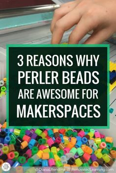 3 Reasons Why Perler Beads are Awesome for Makerspace is part of Makerspace activities - In this post, I explain why Perler Beads are an awesome addition to any makerspace, and offer some advice on incorporating them into your space Library Lessons, Library Ideas, Teen Library Space, Library Design, Library Books, Pop Sicle, Jace Lightwood, Library Center, Steam Activities