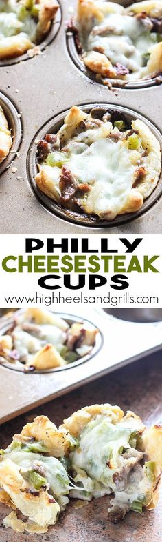 Philly Cheesesteak Cups | High Heels and Grills
